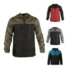 Men's Hooded Lightweight Windbreaker Windproof Outdoor Rain Jacket Teal Black