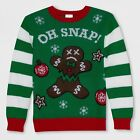 NWT Boys Oh Snap Gingerbread Man Holiday Pullover Ugly christmas Sweater XS or M