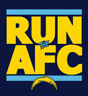 Los Angeles Chargers RUN the AFC shirt NFL Playoffs Superbowl Super Bowl t-shirt $20.0 USD on eBay