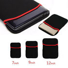 """7"""" 9"""" 12"""" Waterproof Laptop Sleeve Bag Carrying Case/Notebook Computer Soft New"""