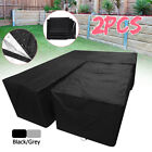 Waterproof Rattan Corner Garden Furniture Sofa Patio Table Cover Protector 2pcs