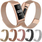 Milanese Stainless Steel Magnetic Loop Watch Band Bracelet For Fitbit Charge 3  image