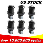 New 6 PCS Happ Arcade Push Button With Microswitches Games Durable US Stock