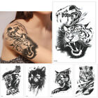 Black Animals and Word Temporary Tattoo Stickers Waterproof Fashion Men Woman