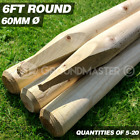 GroundMaster 6ft Rounded Stakes 1800mm Wooden Timber Tree Post Treated Support
