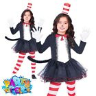 Kids Cat In The Hat Costume Girls Boys Dr Seuss Book Week Day Fancy Dress Outfit