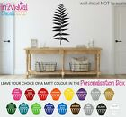 Fern Frond Straight Wall Art Sticker Quote Decal Plants Nature Leaves Home Decor