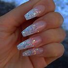 Gold Silver Laser Holographic Nail Glitter Powder Paillette Dust Pigments Tips