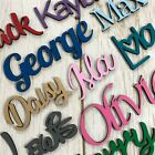*PAINTED ANY COLOUR* Personalised wooden script name plaque sign - Words Letters
