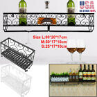 Vintage Metal Hanging Wine Racks Wall Holder Bottle Shelf Storage Organizer Rack