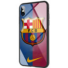 Glass TPU Case for iPhone XS Max for Madrid Barcelona Chelsea Arsenal Juventus