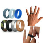 Silicone Wedding Engagement Ring Men Women Rubber Band Gym Sport Flexible