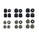Replacement Earbud Tips Soundpeats - 6 pr. Silicone  6 pr. Memory Foam Ear Tips