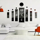 UK 3D Art Design Acrylic Mirror Digital Wall Clock Home Office Study DIY Decor