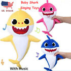 Baby Cartoon Shark Plush Singing English Song Toy Music Doll Musical Toy Gifts
