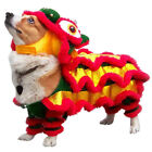 Chinese New Year Pet Dog Lion-Dance Dragon Dance Clothing Apparel Costume US