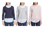 Tommy Hilfiger Women's / Ladies' 2-fer Blouse Pick Your SIZE & COLOR, NWT, NEW