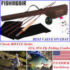 FISHINGSIR RIFFLE Fly Fishing Rod Reel Combo 3/4 5/6WT Graphite Fly Rod Full Kit