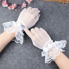 Lady Lolita Lace Gloves Fish Net Bowknot Party Prom Wedding Bride Wrist Mittens