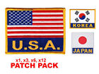 "Внешний вид - Flag Patch Pack USA KOREA Embroidered Patch Iron-on Sew 4"" x 3"" Martial Arts"