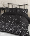 Dreamscene Gorgeous Glitz Diamond Sparkle Duvet Cover Bedding Set, Black, Double