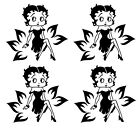 4x Betty Boop Vinyl Decal Silhouette  Glass Stickers Wall, Glass, Metals, etc: £4.99 GBP on eBay