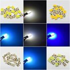 T10 Cob 12 Smd Hid Bulbs Led Error Free Canbus White W5w 501 Side Light Cree Car
