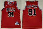 New Men's Chicago Bulls #91 Dennis Rodman Basketball  jersey Mesh Red on eBay