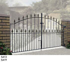 Wrought iron driveway gates arched gates Zinc & Powder Coated