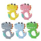 Silicone Animal Dinosaur Baby Teether Ring Infant Chew Charms DIY Teething Toys