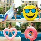 Inflatable Swimming Ring Giant Pool Lounge Adult Float Circle Life Buoy Raft Kid