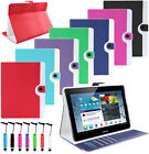 LUXURY RETRO DESIGN PU LEATHER WALLET BOOK  FLIP CASE COVER FOR VARIOUS TABLETS