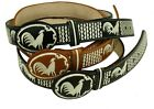 AUTHENTIC MEXICAN WESTERN cinto charro piteado Hand-braided BELTS Chicken