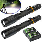 Tactical Police 200000Lumens T6 LED 5Modes 18650 Flashlight Aluminum Focus Torch