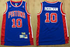 New Men's Detroit Pistons #10 Dennis Rodman Basketball Jersey Mesh Blue on eBay