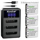Kastar Battery Triple Charger for Fujifilm NP-45 NP-45A BC-45 Fuji FinePix XP140