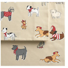 Cuddl Duds FULL or QUEEN size heavyweight flannel sheet set dogs playful pups