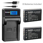 Kastar Battery LCD Charger for TOSHIBA NP-120 PX1657 & FUJIFILM NP-120 NP120