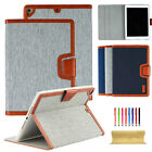 Canvas Smart Leather Flip Case Stand Cover Fr iPad 6th Gen 9.7/Mini/Air/Pro 12.9