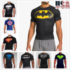 Men Gym Muscle Fit Batman Fitness Cotton Tee Workout T-Shirt Athletic Clothes image