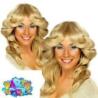 Ladies 70s Flick Wig Farrah Fawcett Charlies Angels Fancy Dress Outfit Accessory