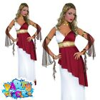 Ladies Greek Goddess Costume Womens Roman Toga Grecian Fancy Dress Outfit Plus