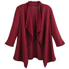 Sole Dione Studio Women's Honeycomb Jacquard Knit Jacket -Open Front 3/4 Sleeves