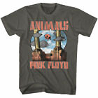 Pink Floyd Animals Floating Pig Mens T Shirt Cartoon Album Rock Concert Tour Top image