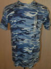 Men's Graphite Sport Blue Camo Short Sleeve T-Shirt Top Size Medium