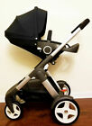 STOKKE CRUSI STROLLER * BLACK or RED * Brand New * Free Blanket * Ret $1149.00