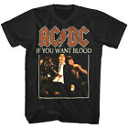 ACDC If You Want Blood Album Cover Men's T Shirt Metal Rock Band Concert Tour image