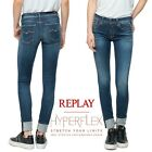 Jeans REPLAY pantaloni da donna LUZ ankle zip aderente skinny fit WGX689 93A 468