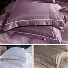 Pure Silk Pillow Cases Cushion Covers Pillowcases Standard Solid Colors NEW image