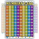 Counting 1-100 Number Laminated Classroom Teacher Poster